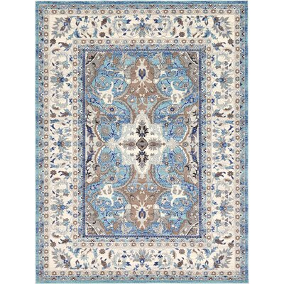 Duckett Light Blue Area Rug Rug Size: Square 84 x 84