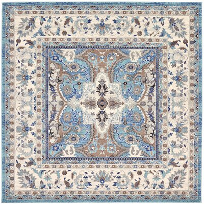 Duckett Light Blue Area Rug Rug Size: 84 x 84
