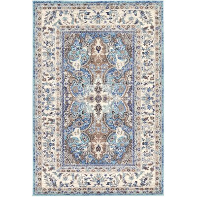 Duckett Light Blue Area Rug Rug Size: 4 x 6