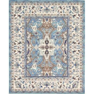 Duckett Light Blue Area Rug Rug Size: 8 x 10