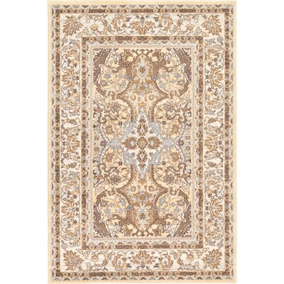 Edicott Cream Area Rug Rug Size: Rectangle 4 x 6