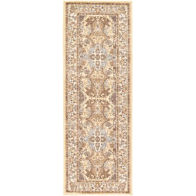 Edicott Cream Area Rug Rug Size: Runner 2'2