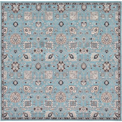 Edinburgh Light Blue Area Rug Rug Size: 84 x 84