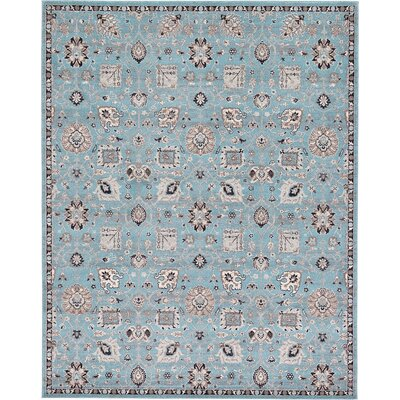 Kempf Light Blue Area Rug Rug Size: Rectangle 8 x 10