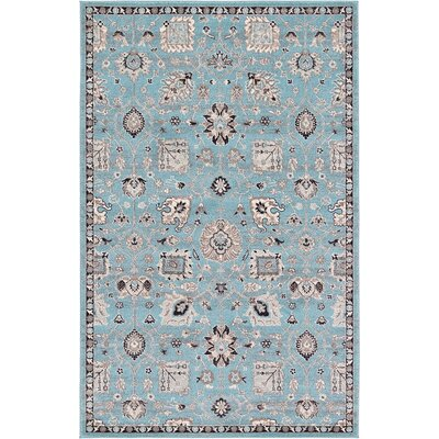 Edinburgh Light Blue Area Rug Rug Size: 5' x 8'