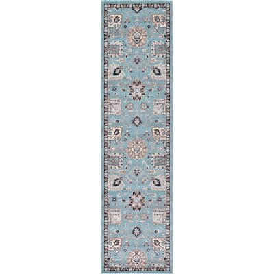 Edinburgh Light Blue Area Rug Rug Size: Runner 27 x 10