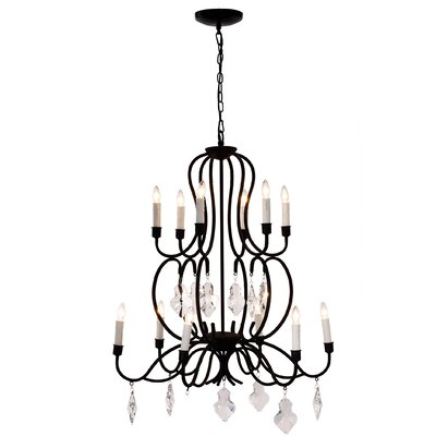 Edison 12-Light Candle-Style Chandelier