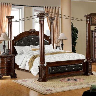 Edmore Upholstered Canopy Bed Size: King