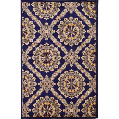 Marmont Navy Blue Area Rug Rug Size: 6' x 9'
