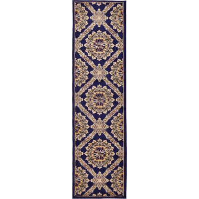 Marmont Navy Blue Area Rug Rug Size: Runner 2'7