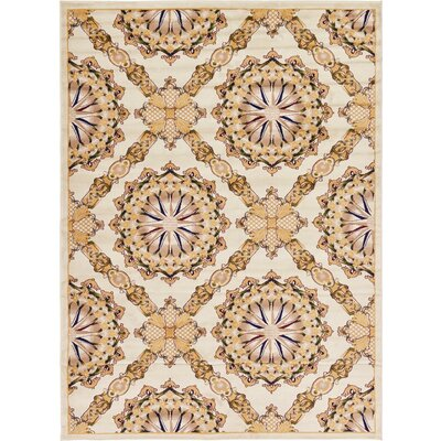 Bethesda Cream Area Rug Rug Size: Rectangle 6 x 9