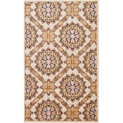 Bethesda Cream Area Rug Rug Size: Rectangle 5 x 8