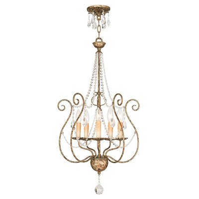 Charley 5-Light Candle-Style Chandelier
