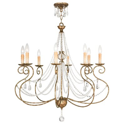Charley 8-Light Candle-Style Chandelier