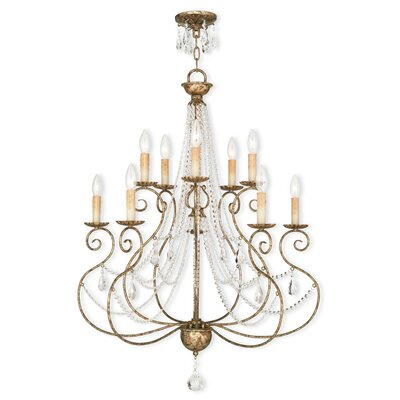 Charley 10-Light Crystal Chandelier