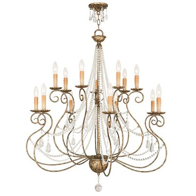 Charley 14-Light Crystal Chandelier