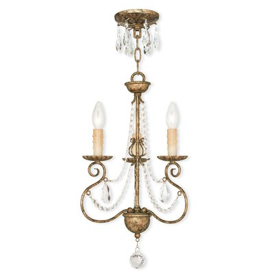Charley 3-Light Candle-Style Chandelier