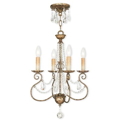 Charley 4-Light Candle-Style Chandelier