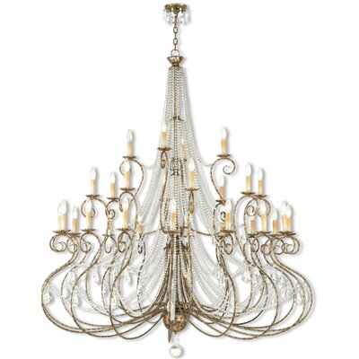 Charley 28-Light Crystal Chandelier