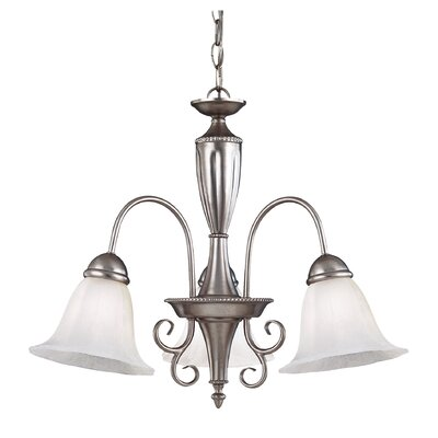 Eaton 3-Light Shaded Chandelier Color: Pewter
