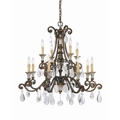 Fairgrove 12-Light Crystal Chandelier