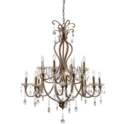 Charlotte 12-Light Crystal Chandelier