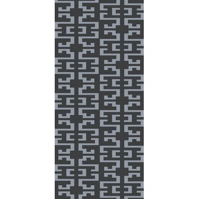 Bart Charcoal/Gray Area Rug Rug Size: Runner 26 x 10