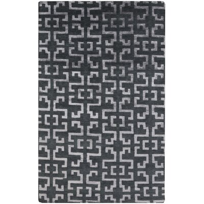 Bart Charcoal/Gray Area Rug Rug Size: 5 x 8