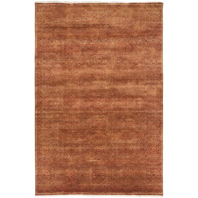 Barrand Rust/Taupe Area Rug Rug Size: 3'6