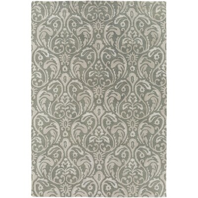 Batchler Hand-Tufted Sage/Light Gray Area Rug Rug size: Rectangle 2' x 3'