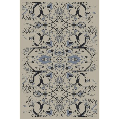 Bastow Hand-Knotted Denim Area Rug Rug size: Rectangle 4 x 6