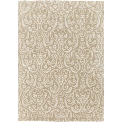 Batchler Hand-Tufted Khaki/Taupe Area Rug Rug size: Rectangle 33 x 53