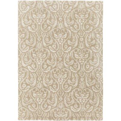 Batchler Hand-Tufted Khaki/Taupe Area Rug Rug size: 33 x 53
