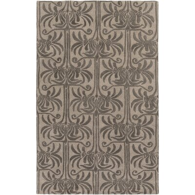 Bartell Hand-Tufted Black/Ivory Area Rug Rug size: Rectangle 5 x 8