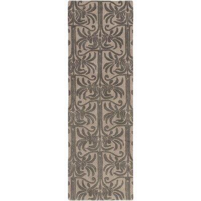 Bartell Hand-Tufted Black/Ivory Area Rug Rug size: Runner 26 x 8
