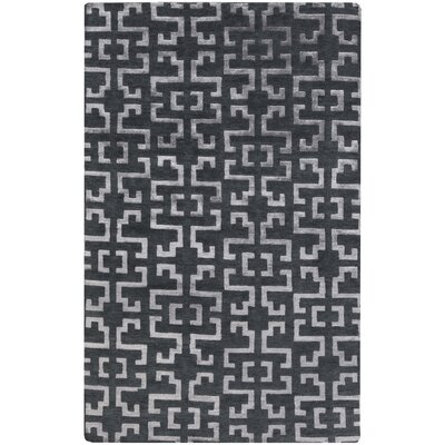 Bart Hand-Knotted Charcoal/Medium Gray Area Rug Rug size: 8 x 11