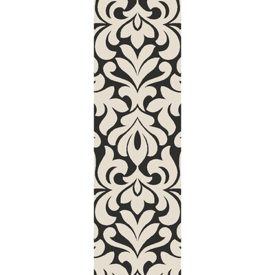 Hillingdon Hand-Tufted Cream/Black Area Rug Rug size: Runner 26 x 8
