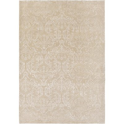 Barratt Hand-Knotted Khaki Area Rug Rug size: Rectangle 4 x 6