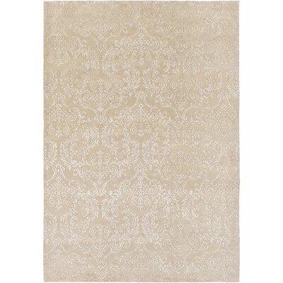 Barratt Hand-Knotted Khaki Area Rug Rug size: 9 x 13