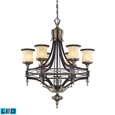 Barraclough 6 Light Shaded Chandelier