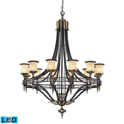 Barraclough 12-Light Shaded Chandelier