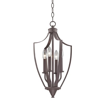 Barryton 4-Light Foyer Pendant Finish: Oil Rubbed Bronze