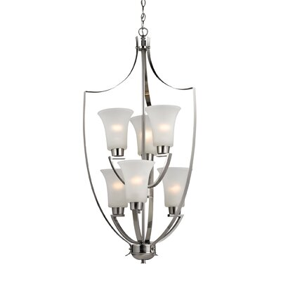 Barryton  6-Light Shaded Chandelier Finish: Brushed Nickel