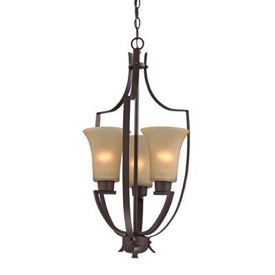 Barryton 3-Light Foyer Pendant Color: Oil Rubbed Bronze