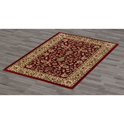 Bashford Red Area Rug