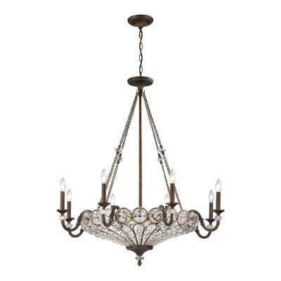 Elberta 12-Light Crystal Chandelier