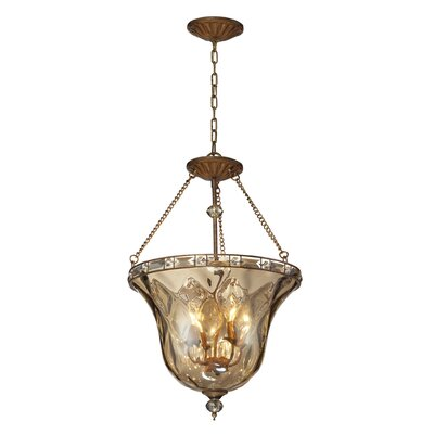 Eastlake 4-Light Bowl Pendant