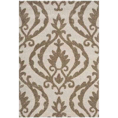 Blaris Cream/Beige Area Rug Rug Size: Square 67 x 67