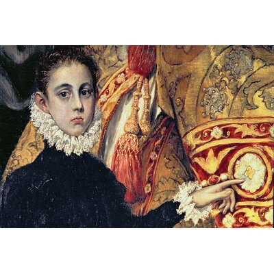 'Detail of A Boy' by El Greco Painting Print on Wrapped Canvas