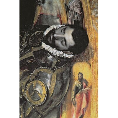'Detail of the Count' by El Greco Painting Print on Wrapped Canvas